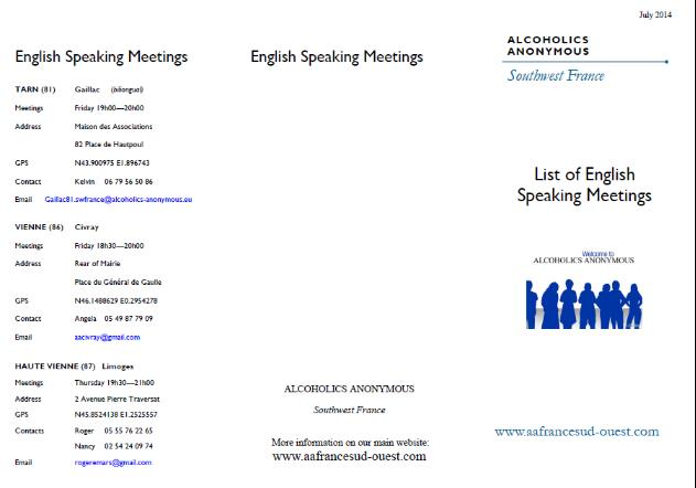 Meetings Leaflet - Click to download pdf copy
